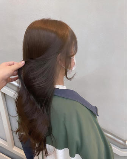 ブリーチなし透明感Wカラー+内部補修ケア+髪質改善シャンプー