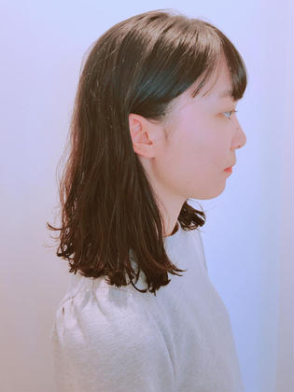 ミディアム くせ毛を生かしたミディアムヘア♪