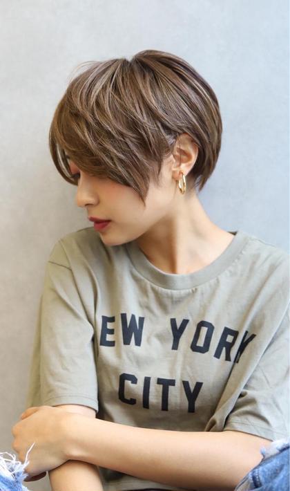 我部友希のショートのヘアスタイル