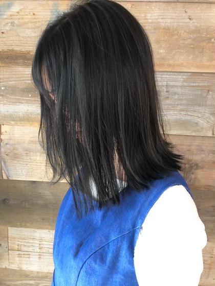 その他 カラー キッズ ネイル ヘアアレンジ マツエク・マツパ ミディアム 【 ブルージュカラー 】  黒髪のブルージュカラー☺️  暗くても重く見えないのが特徴でとても人気です🌟  イルミナカラーのアッシュを使ってブリーチなしで柔らかい質感と淡い色味が軽やかな雰囲気を引き出してくれますよ☺️