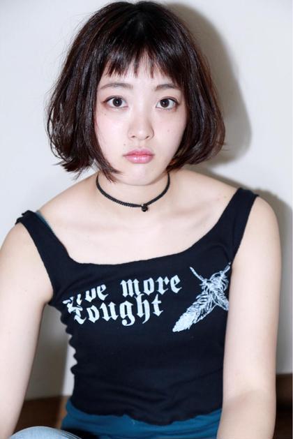 オン眉切りっぱなしボブ☆ Riche所属・サコウアンナのスタイル