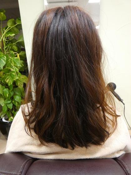 ドライカット+髪型自在のニュアンスパーマ(ポイント)