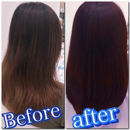 グラデーションカラーをローズピンクに直しました❗ Michio Nozawa Hair S所属・宮崎洋輔のスタイル