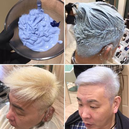 その他 カラー ショート メンズ 【ホワイトカラーというかプラチナカラー】 カラーミューズホワイトでブリーチ×2回からダメージレスにプラチナカラーになりました。カラーミューズホワイト単品でもかなり白くなります!!カラーミューズは優秀!! ・ ・ ・ #プレイフルヘアカラー #プリミエンス #エンリッチ#新色#カラー#ホワイトブリーチ#ハイブリーチ#ケアブリーチ#カラーミューズ#SHISEIDO#colormuse#大宮美容室 #大宮#さいたま#モリオフロムロンドン#大宮ヘアサロン#手触りがいい#ダメージレス#ツヤツヤ#ハイライト#バイブラントカラー#カラーインストラクター#資生堂プロフェッショナル#デザインカラー#インナーカラー#カラーミューズグリーン#カラーミューズブルー#カラーミューズホワイト#プラチナカラー