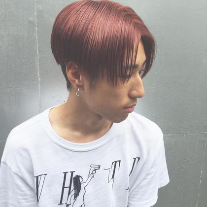 流行りのk-pop Style。 派手髪も ヘアの形でよりオシャレに!(^^) 是非あなただけのK Styleに! siena所属・塩見弘樹のスタイル