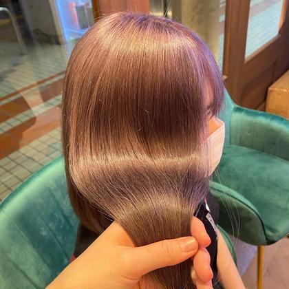 【ミニモ限定】2工程ブリーチWカラー+2 step ・Aujuaトリートメント✨ハイトーンでもサラ艶髪に💎