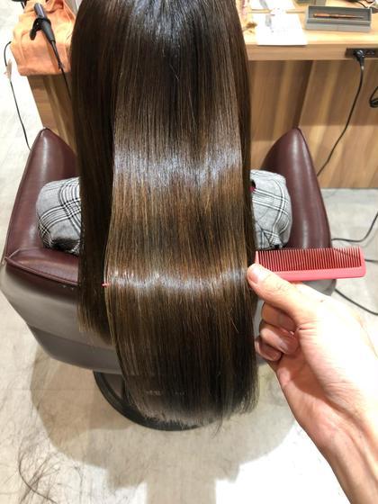 髪質改善‼️カット+美髪矯正ストレート+モイストトリートメント