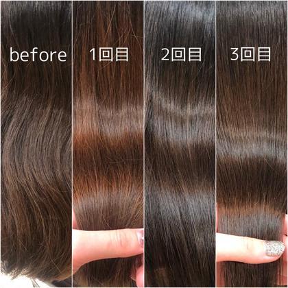 髪質改善before〜3回目まで