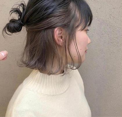 《人気No.2✨》隠せるインナー!さりげないオシャレ✨インナーカラー+全体カラー+内部補修ケア+髪質改善シャンプー