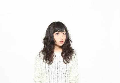 ロングのパーマスタイル☆ムースだけで仕上げました☆ c's所属・相澤麻利絵のスタイル