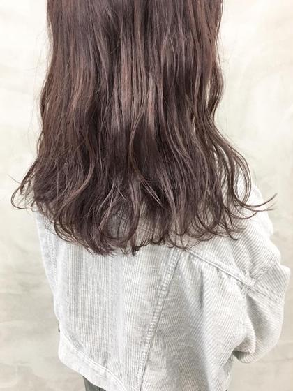 カラー パープルブラウン。 イルミナカラーで艶髪。 #ミディアム#パープル