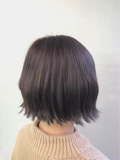 その他 カラー ショート 全体をブリーチしてきれいに抜けきった髪をパープルアッシュに❤︎ パープル強めです😊✨