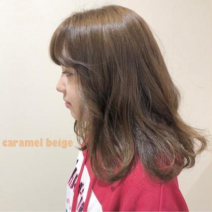 milk tea beige yehatov  hair所属・松山実穂のスタイル