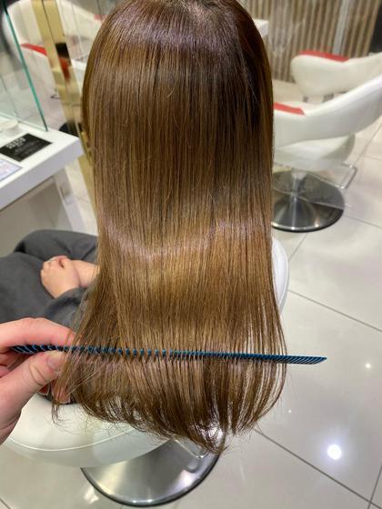 髪質改善酸熱トリートメント+超音波アイロン🎶