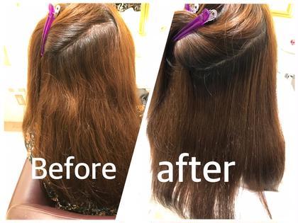 ストレートの施術をさせていただきました★ 髪の毛の履歴やお客様の癖が気になるポイントなどを特に意識して施術させていただきます‼︎  daisybyhappiness所属・永田晴恵のスタイル