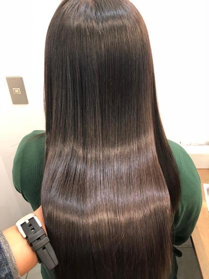 🔶【艶髪】何度でも利用🆗❤️髪質改善トリートメント➕根元染め➕カット