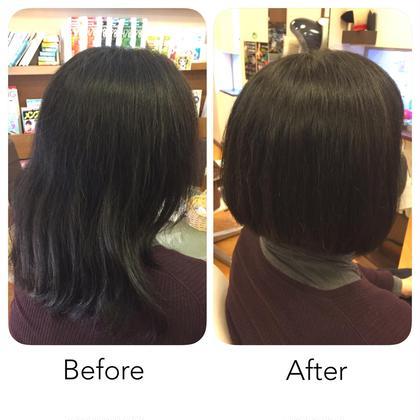 くせ毛の広がりを抑えるカットコース