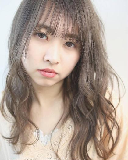 人気No.2👑前髪カット+透明感カラー+3stepトリートメント