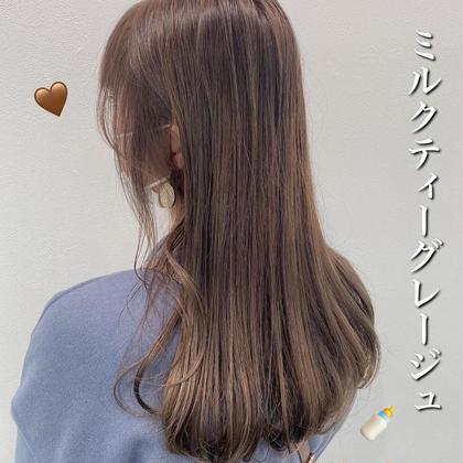 【✨1番人気メニュー✨】ケアブリーチダブルカラー&髪質改善トリートメント❤️