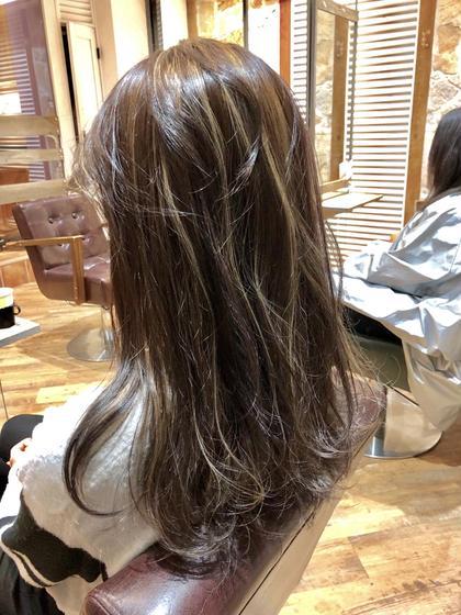 コントラストハイライト♪ 木村直貴のセミロングのヘアスタイル