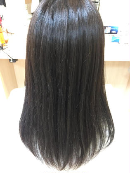 🍀乾かすだけでサラサラに🍀カット+ナチュラル縮毛矯正+トリートメン