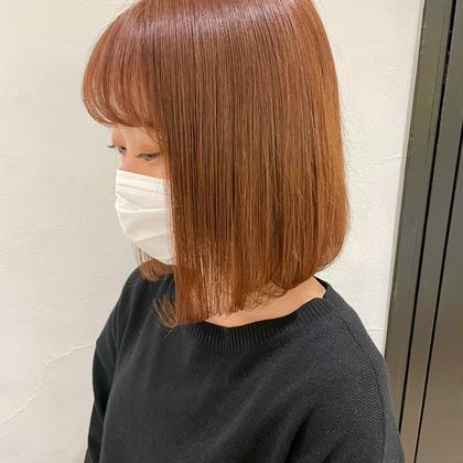 ❤️【🌿オススメ🌿】前髪カット+カラー+TOKIOトリートメント