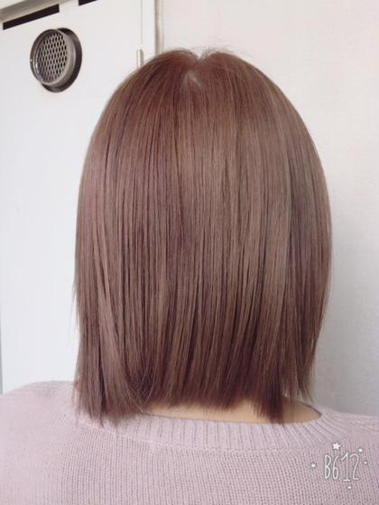 パープルグレージュ 3度染は必要ですが柔らかい質感がでます♪ dolce  hair所属・諏訪園寛子のスタイル