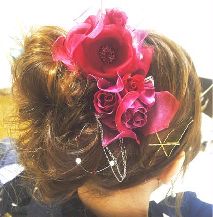 パーティヘアセット  #華やか#ゴールドピン#アップスタイル ALBA   hair resort所属・福岡愛のスタイル