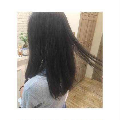 カラー セミロング ミディアム ロング ただの暗髪ではなく、透明感を意識しました☆ あまり髪を明るくできない方にオススメです!!