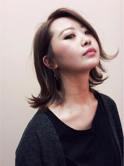 外ハネにさせても可愛い、鎖骨ミディアムライン♡ モリオフロムロンドン所属・大野愛紗美のスタイル