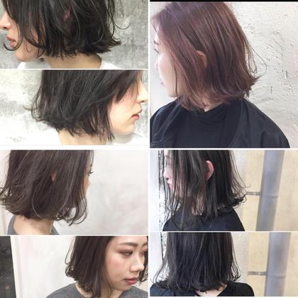 その他 カラー ショート Real salon work✂︎✂︎✂︎ [☆切りっぱなし&外ハネBOB☆] . どんなラインで? どんな質感に? どんな色味に?  似合わせと髪質、骨格と、 好みに合わせてご提案します☝︎