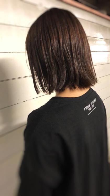 切りっぱなしボブ。アイロンいらずの簡単セット✨ MOLLA浅香山店所属・谷口ゆめのスタイル