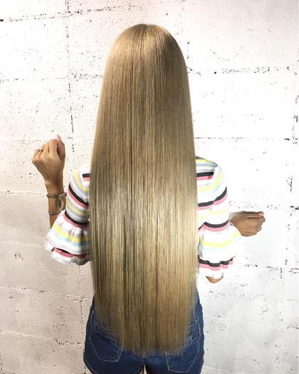トレンドWカラー&髪質改善調合トリートメント&簡単巻き方講座コース