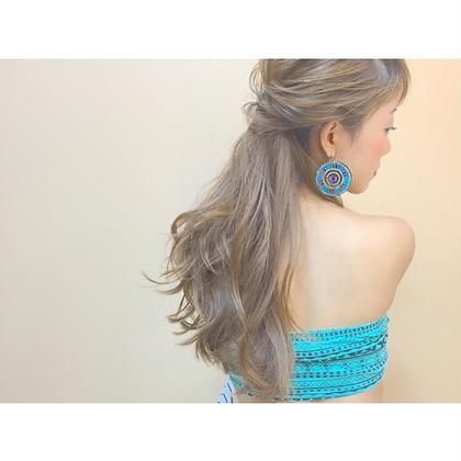 summer style♡ ゆる巻きのこつ、アレンジのこつ、お教えします♡ marju ginza所属・齊藤実依のスタイル