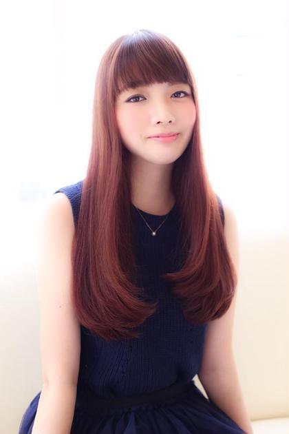 艶の出る暖色カラーがポイント!! 3回重ねるとこのようになります。 Hair Make MUSE所属・橘喜広のスタイル