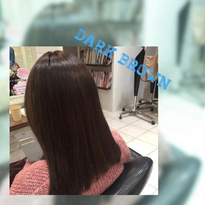 ブリーチ毛を自然なダークブラウンに* Hapir所属・新井田こなつのスタイル
