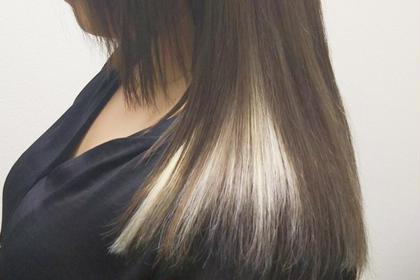 その他 カラー セミロング ヘアアレンジ マツエク・マツパ インナーカラーです🌟 自毛で難しいお色でも簡単に出来ます✨