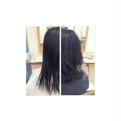 久しぶりのパーマをかけさせてもらいました! 黒髪でも毛束とパーマの柔さが組み合わされば可愛く大人っぽく仕上がります^ ^ D'na所属・川島美穂のスタイル