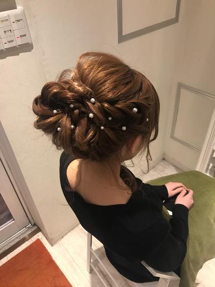 結婚式のヘアアレンジにオススメ トップにボリューム! ねじねじアップ ヲタク美容師 ヲタク美容師✂︎のヘアアレンジ