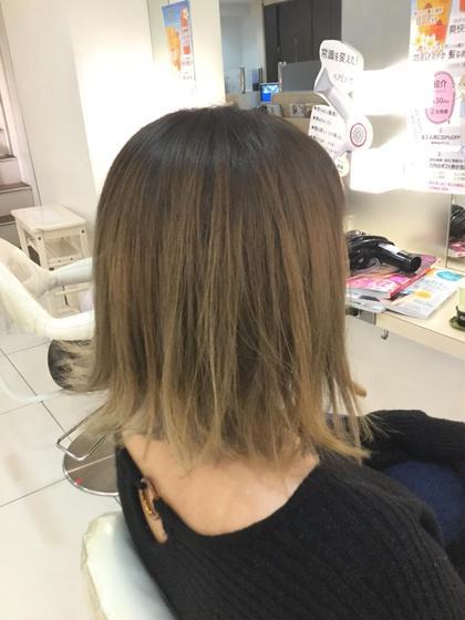 ハイライトグラデーションカラー!!  HAIR MAKE ash 町田店所属・わたなべしんやのスタイル