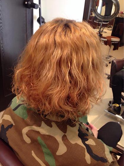 ブリーチ毛にもダメージを最小限に抑えてパーマかけれます(ダメージのレベルによります。) c's所属・門脇志麻のスタイル