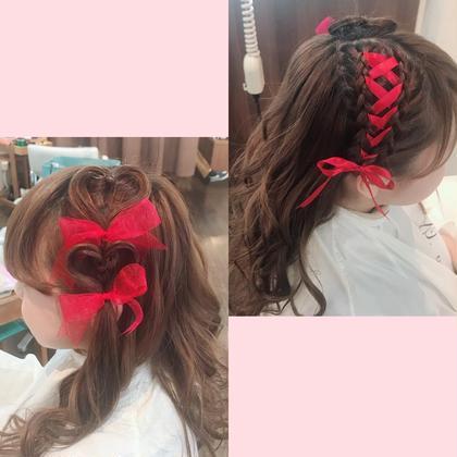 本日のヘアセットのお客様🌈  ライブ用のセットです🐰💕 とっても可愛くできました!  小川佳穂のヘアアレンジ