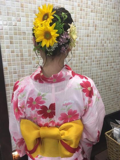 【夏季限定🌻夏祭りや花火大会に❣️】浴衣着付け+ヘアセット✨