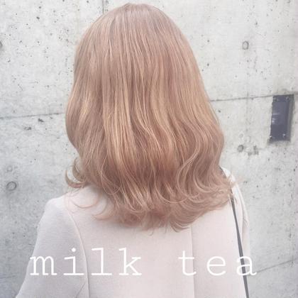カラー セミロング  milk tea❤︎