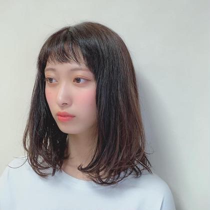 ふんわりミディアム P-brands hair kasuga refrain所属・國武 桜のスタイル
