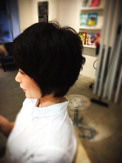 デジタルパーマ+オーガニックカラー  直毛のお客様にふんわりとした柔らかい質感を  ありがとうございました SUNDY-K『サンディーケー』所属・清水篤のスタイル