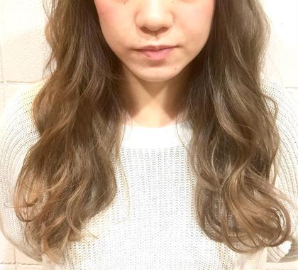 カラー ロング アッシュベージュ☆ハイライト