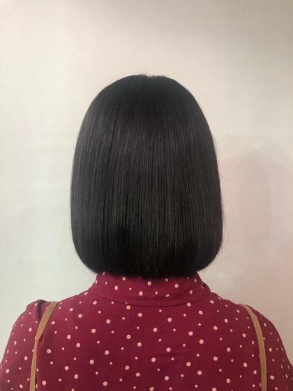 その他 カラー ミディアム 縮毛矯正をかけている髪の毛なのですが内に入りやすいように少しグラデーションをいれました😊♥️