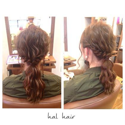 シンプルなひとつ結びも、ふわふわウェーブ&サイドをネジネジにするだけで、一気にオシャレ髪になります♫+° chouette HairMake&HeadDress所属・サダハルカのスタイル