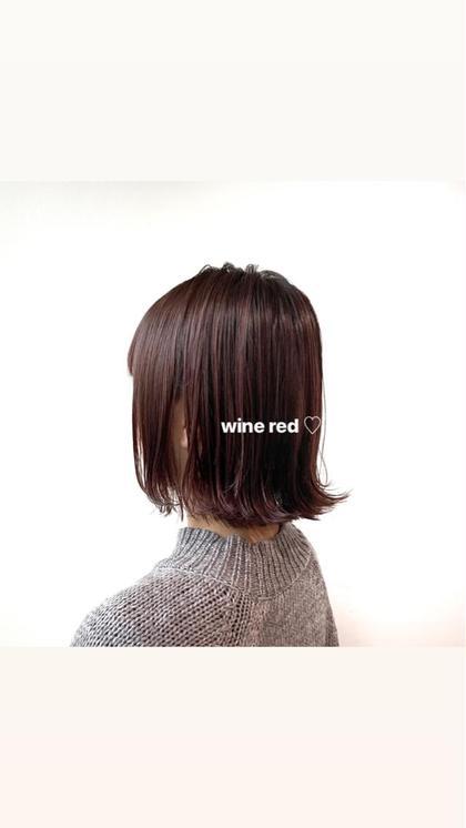 カラー ミディアム #ワインレッド